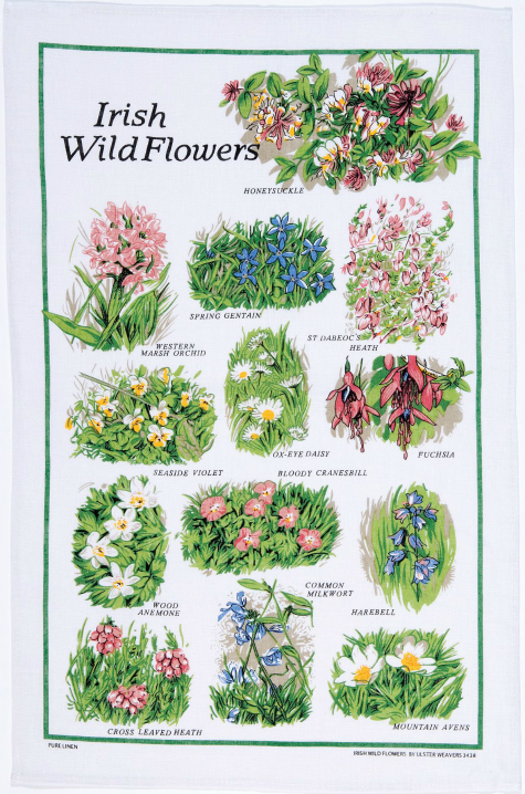 Tea Towel - Irish Wild Flowers