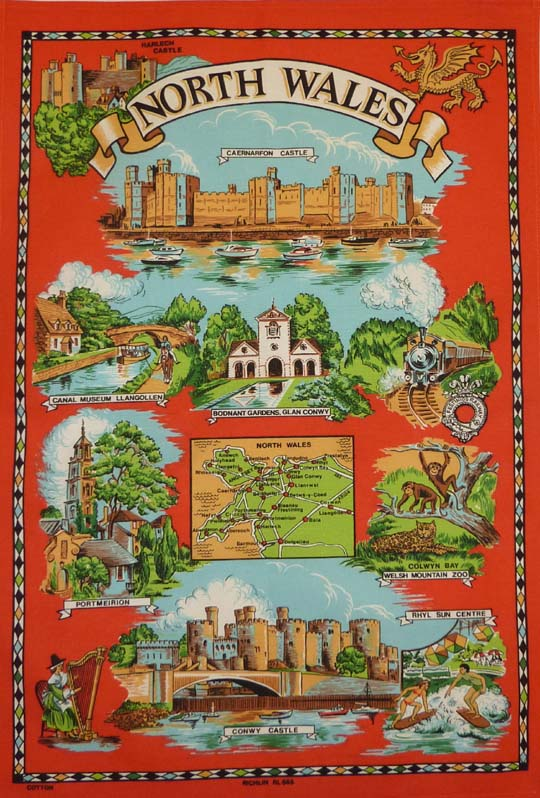 North Wales Cotton Tea Towel