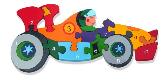 Number Racing Car Jigsaw