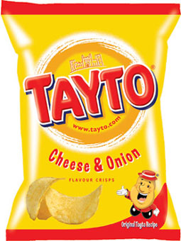 Tayto � Cheese and Onion � Potato Crisps � 35g Bags x 24